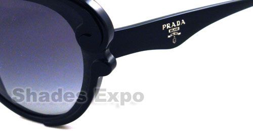 PRADA SUNGLASSES SPR 28N BLACK 1AB 3M1 SPR28N AUTH 679420417233