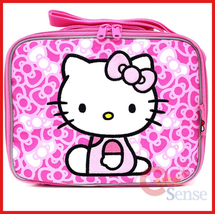 Sanrio Hello Kitty School Lunch Bag / Insulated Snack Box Pink Bows