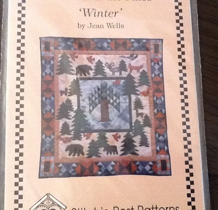 Seasons In The Pines Winter Quilt Pattern Jean Wells Forest Animals