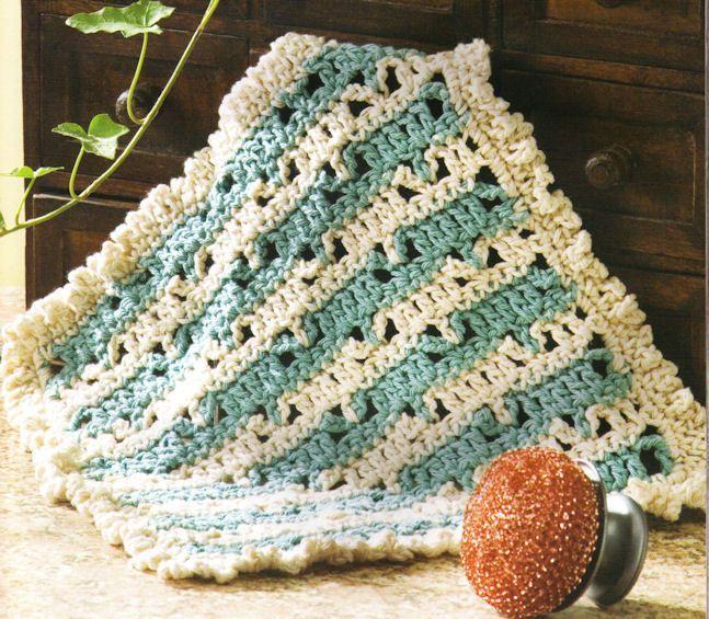 Crochet Patterns Potholders Dishrag Dishcloth Towel Rag