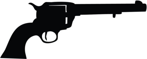 Colt Revolver Gun Rifle Car Decal Window Wall Sticker
