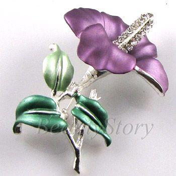 SHIPPING Austrian rhinestone crystal flower brooch pin wedding