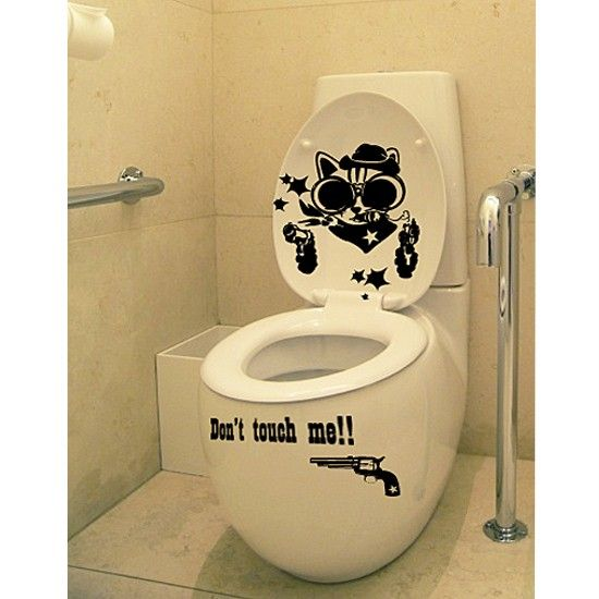 COWBOY CAT Adhesive Removable Wall Decor Accents GRAPHIC Stickers