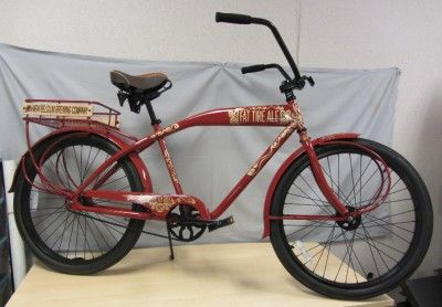 BREWING 20TH ANNIVERSARY CRUISER BIKE NEW FAT TIRE BICYCLE FELT