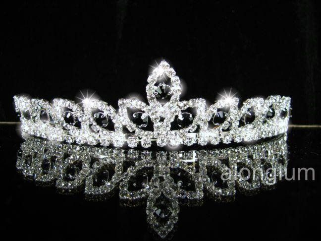 A275 6 Black Wedding Bridal Bridesmaid Swarovski Crystal Rhinestone