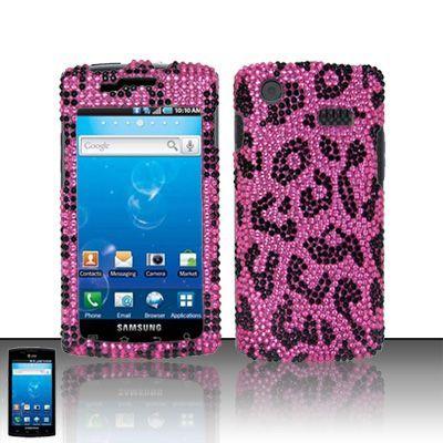 Pink Leopard Bling Case Cover Samsung Captivate i897