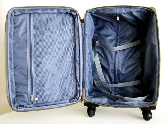 3Pc Luggage Set Travel Bag Rolling 4 Wheels Spinner Upright Expandable